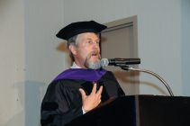 Charles Cresson Wood speaking at Commencement