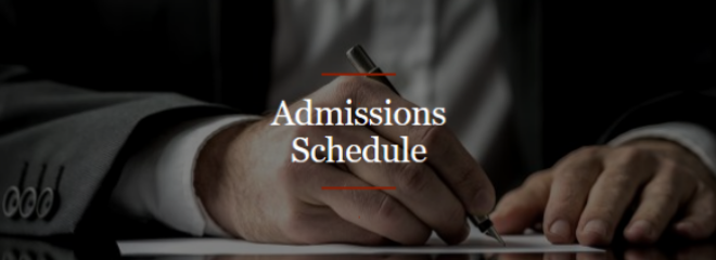 Admissions Schedule Image Button